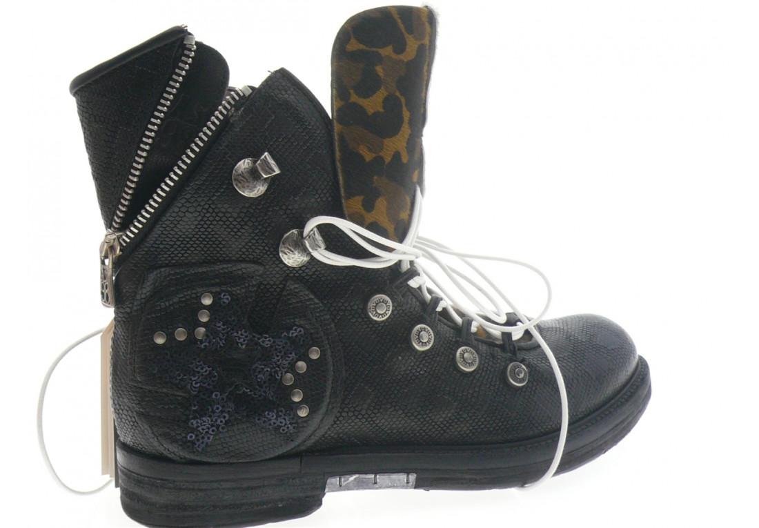 air step as.98 - Boots 227207 - NOIR LEOPARD