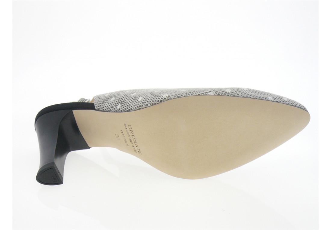 brunate - Escarpin 70070 - NOIR BLANC