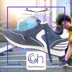 Des baskets chic avec toujours une touche de différence, découvrir ici ce modèle de la marque Voile Blanche.   Ici https://www.charlychaussures.com/ et en boutique !!!   #new