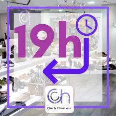 Dès aujourd'hui, l'équipe Charly Chausseur, vous accueille en boutique jusqu'à 19 heures.   Une heure en plus pour découvrir toutes les nouveautés Charly !!!  ça fait du bien non ?😁  #1hdeplus #merci #shopping #béziers #centreville #CHAUSSURE