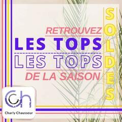 1er jour des Soldes !! 😎  Pour retrouver les tops de la saison, rendez-vous en centre ville de Béziers, toute l'équipe Charly Chausseur vous attend.  Aussi dispo sur https://www.charlychaussures.com/  #été #bellesaison #chaleur #tops #Charly